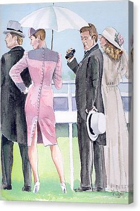 A Day At The Races Canvas Print by Arline Wagner