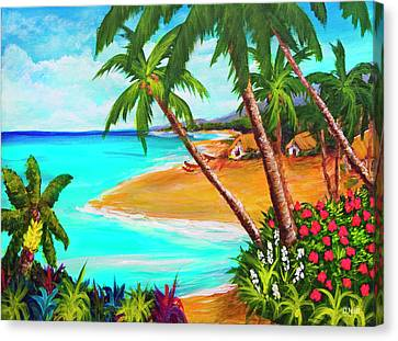 A Day In Paradise Hawaii #359 Canvas Print by Donald k Hall