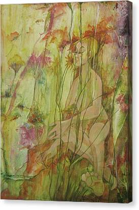A Day In The Flowers Canvas Print by Georgia Annwell