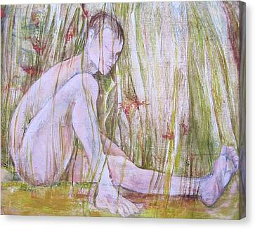 A Day In The Grass Canvas Print by Georgia Annwell
