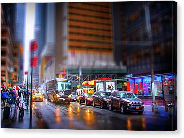 A Day In The Life Of Manhattan Canvas Print by Mark Andrew Thomas