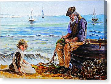 Old Man With Beard Canvas Print - A Day With Granddad Edit by Andrew Read
