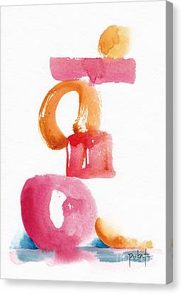 A Delicate Balance Abstract #5 Canvas Print by Pat Katz