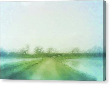 A Delta Road Canvas Print