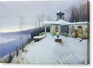 A Deserted Manor House  Canvas Print