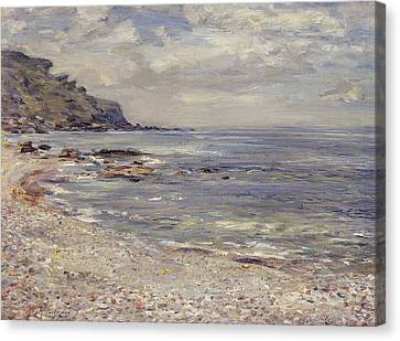 A Deserted Rocky Shore Canvas Print by William McTaggart