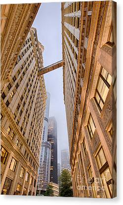 A Different Perspective Of The Wrigley Building And Trump Tower Playing Hide And Seek - Chicago Canvas Print by Silvio Ligutti