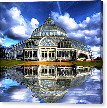 A Digital Painting Of Sefton Park Palm House Liverpool England Canvas Print