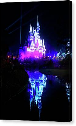 Canvas Print featuring the photograph A Disney New Year by Mark Andrew Thomas