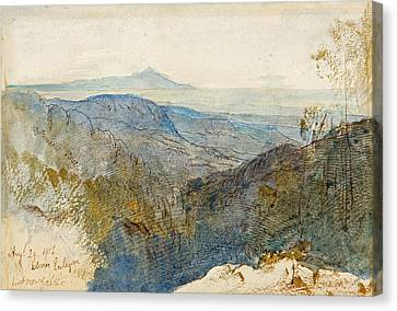 A Distant View Of Mount Athos Canvas Print