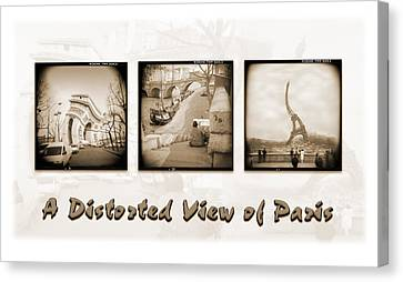A Distorted View Of Paris Canvas Print by Mike McGlothlen