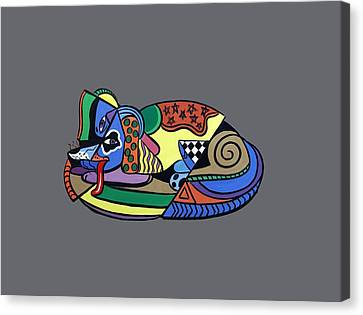 A Dog Named Picasso T-shirt Canvas Print by Anthony Falbo