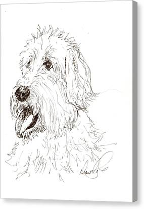 A Doodle Of My Doodle Canvas Print by Diane Daigle