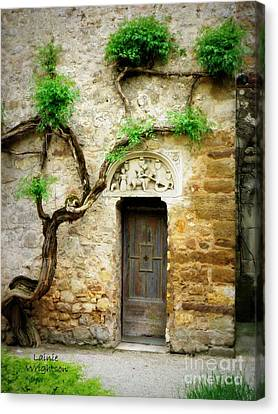A Door In The Cloister Canvas Print