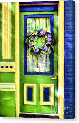 Panel Door Canvas Print - A Door Of Many Colors # 3 by Mel Steinhauer