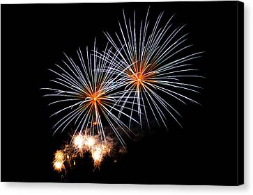 Pyrotechnic Canvas Print - A Double Shot by Marnie Patchett