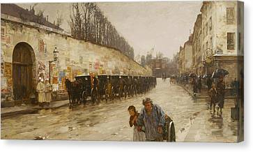 A Downpour - Rue Bonaparte Canvas Print by Childe Hassam