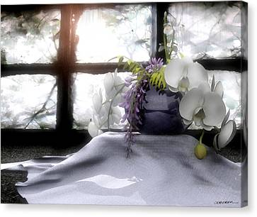 A Dream Of Orchids Canvas Print by Cynthia Decker