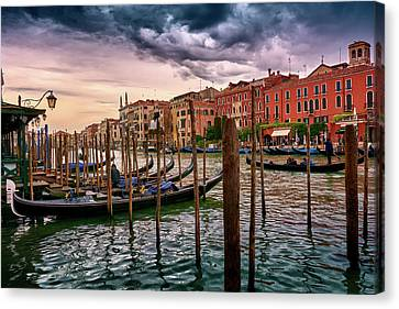 Surreal Seascape On The Grand Canal In Venice, Italy Canvas Print