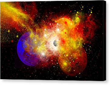 A Dying Star Turns Nova As It Blows Canvas Print by Mark Stevenson