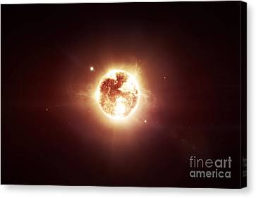 A Dying Star Which Will Soon Give New Canvas Print by Tomasz Dabrowski