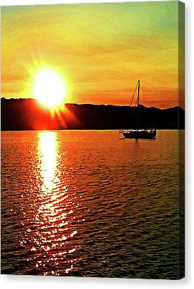 A Early Springtime Visit To Mystic Village In M Canvas Print