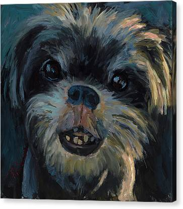 A Face Only A Mother Could Love Canvas Print by Billie Colson