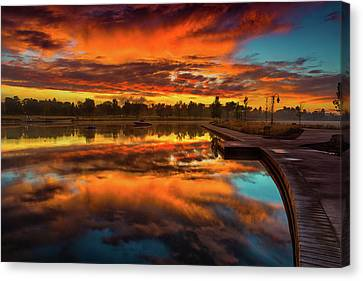 A Fall Sunrise Canvas Print