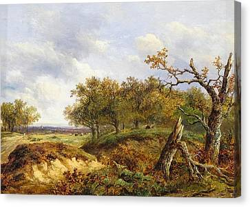Thor Canvas Print - A Fallen Oak In A Landscape by MotionAge Designs