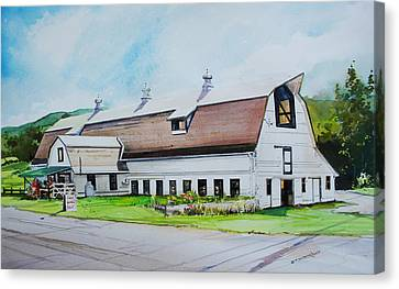 A Farmstand  In The Berkshires Canvas Print by P Anthony Visco