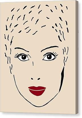A Fashion Model Canvas Print by Frank Tschakert