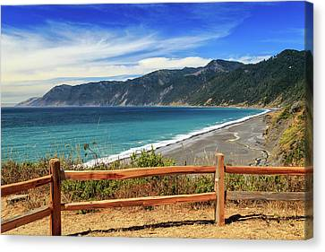 Canvas Print featuring the photograph A Fence On The Lost Coast by James Eddy