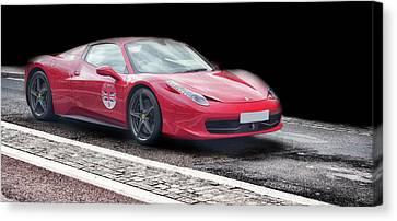 A Ferrari's Speed Canvas Print
