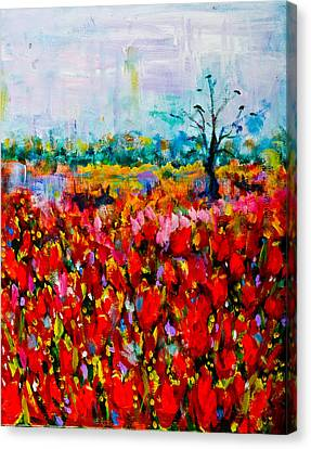 A Field Of Flowers # 2 Canvas Print