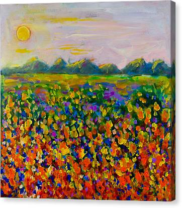 A Field Of Flowers #1 Canvas Print