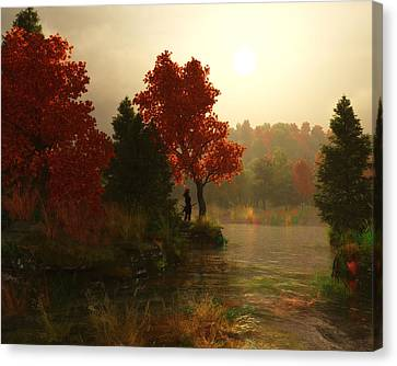 A Fine Autumn Morning Canvas Print by Melissa Krauss