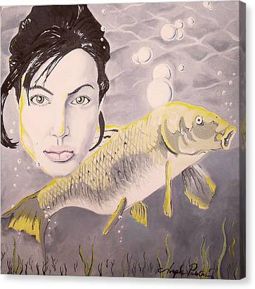 A Fish Named Angelina Canvas Print by Joseph Palotas