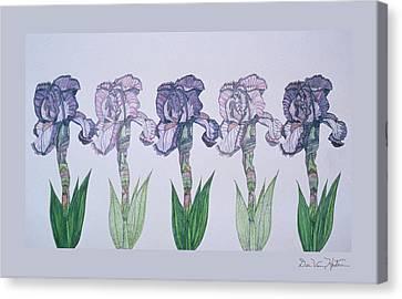 A Floral Line Canvas Print