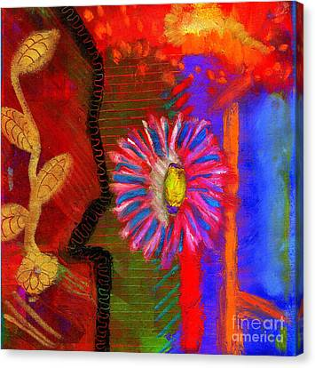 Canvas Print featuring the painting A Flower For You by Angela L Walker