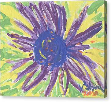 A Flower Canvas Print by Yshua The Painter