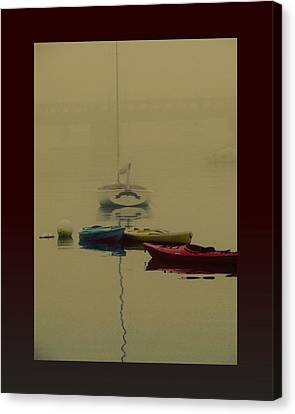 A Foggy Day On Cape Cod Bay... Canvas Print by Rene Crystal