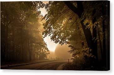 A Foggy Morning Canvas Print by Art Spectrum