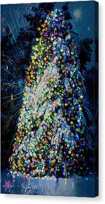 A Forest Tree Of Lights Canvas Print by ARTography by Pamela Smale Williams