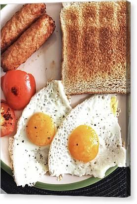 A Fried Breakfast Canvas Print by Tom Gowanlock