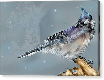 Canvas Print featuring the digital art A Friend For Lunch Three by Darren Cannell