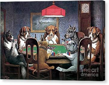 Friends Canvas Print - A Friend In Need by Cassius Marcellus Coolidge