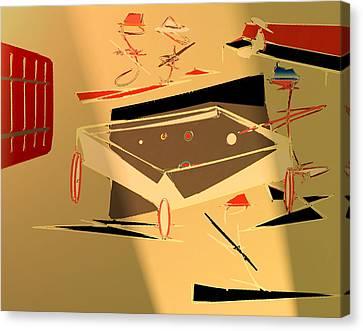 A Friendly Game 2 Canvas Print by John Krakora
