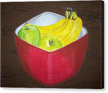A Fruit A Day Canvas Print by Sanchia Fernandes