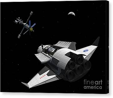 A Future Generation Space Shuttle Canvas Print by Walter Myers