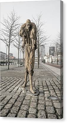 A Future History The Famine Sculpture Canvas Print by Betsy Knapp